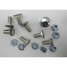 "GM 7/16""-14 X 1"" Stainless Steel Pan Head Bumper Bolts W/Nuts (8)"