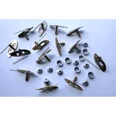 """GM 9/16 Plate Moulding Fasteners W/Nuts 5/8"""" Bolt  PL 1-5/8"""" (15)"""