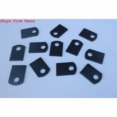 "Steel Flat Tab Brackets Weld On 1-1/2"" x 1"" 1/8"" thick 3/8 hole 12- pcs"