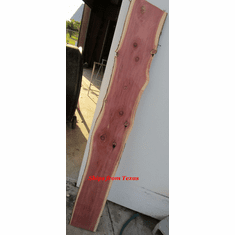 "Texas Red Cedar Slab 65""X 10"" X 1"" Thick Woodworking Crafts Table Bench"