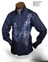 Angelino Gino Denim High Collar Shirt sizeM(16)