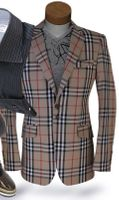 Angelino Tan Check Sport Jacket 42L
