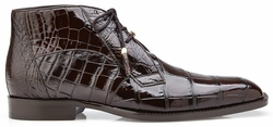 Belvedere Stefano Chocolate Alligator Ankle Boots