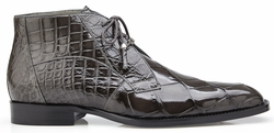 Belvedere Stefano Gray Alligator Ankle Boots