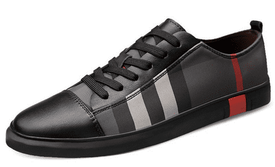 Black Check Designer Sneakers