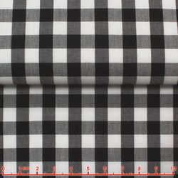 Black Gingham Spread Collar Shirt -Special order