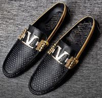 Black Gold Accent Luxury Slip-on Loafers size 10.5 - 11