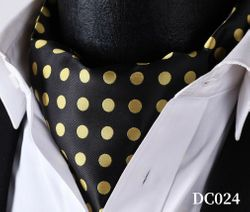Black Gold Silk Ascot