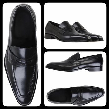 Black Leather Italian Loafers