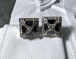 Angelino Black X Stone Cufflinks