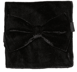 Black Velvet Bow Tie Pocket Square Set