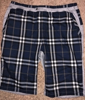 Burberry Blue Check Shorts W32