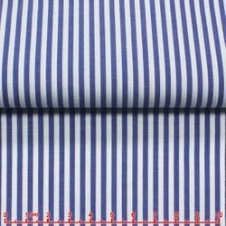 Blue Striped Tab Collar Shirt -Custom Order-CM0047RYB
