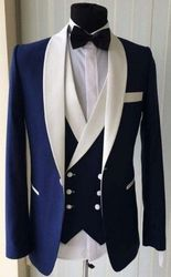 Blue White Shawl Collar 3pc Tuxedo-special order