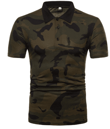 Camouflage Mens Polo Shirt