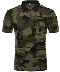 Camouflage Mens Polo Shirt2 Light