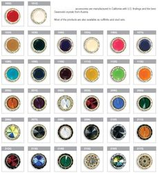 Casanova Collar Swarovski Austrian Crystal Button Cover Options Sheet#1