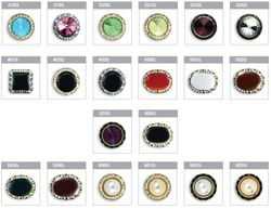 Casanova Collar Swarovski Austrian Crystal Button Cover Options Sheet#2