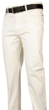 Cream Straight Leg Denim Jeans