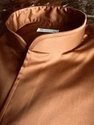 Norville Copper Band collar shirt M +$30Rush charge