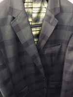 Dark Green Black Check Suit (fits 44R or 46sim fit)