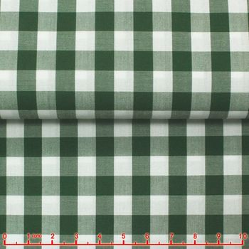 Dark Green Green Gingham Spread Collar Shirt -Special order
