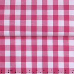 Dark Pink Gingham Spread Collar Shirt -Special order