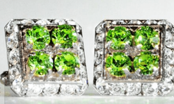 Emerald Square Stone Cufflinks