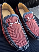 Glen Plaid loafer (Brick)