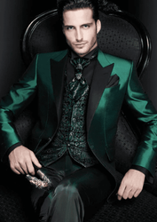 Green Satin 3Pc Suit (Jacket vest pants)-Special Order