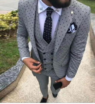 Grey Dot 3Pc Suit (other colors available)