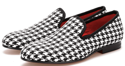 Houndstooth Slip-on Shoes