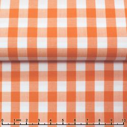 Light Orange Gingham Spread Collar Shirt -Special order