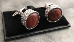 Round Maple Cufflinks