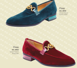 Mauri 4940 Floss Velvet Patent Leather Loafers