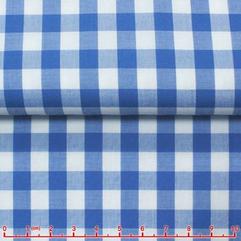 Medium Blue Gingham Spread Collar Shirt -Special order