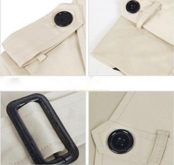 Modern Trench Coat Details View