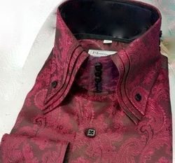 MorCouture Black Cherry Paisley Centipede Shirt (over 200 color options)
