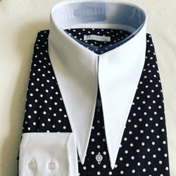 MorCouture Black White Polka Dot Couture Collar