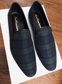 MorCouture Black Watch Plaid Loafers