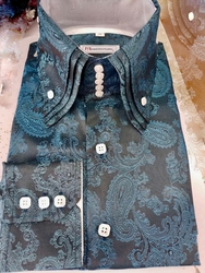 MorCouture Blue Paisley Triple Centipede Shirt (over 200 color options)