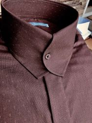 MorCouture Casanova Chocolate Brown Shirt