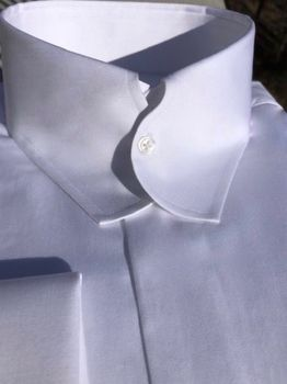 MorCouture White Casanova Collar Shirt