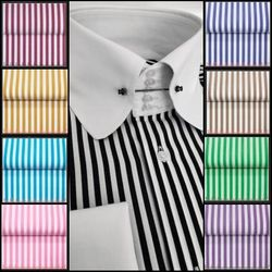 MorCouture Centipede Tie-Pin Collar Shirt (several color options)