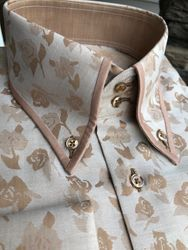 MorCouture Floral Trimmed Collar Shirt -Custom order