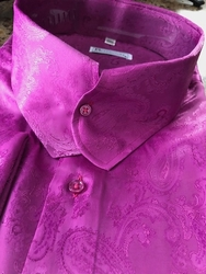 MorCouture Fuschia Casanova Collar Shirt  (over 200 color options)
