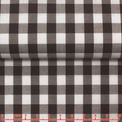 MorCouture Gingham High Collar Shirt -Brown
