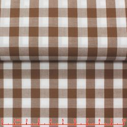 MorCouture Gingham High Collar Shirt -Light Coffee