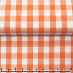 MorCouture Gingham High Collar Shirt -Light Orange
