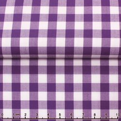 MorCouture Gingham High Collar Shirt -Purple